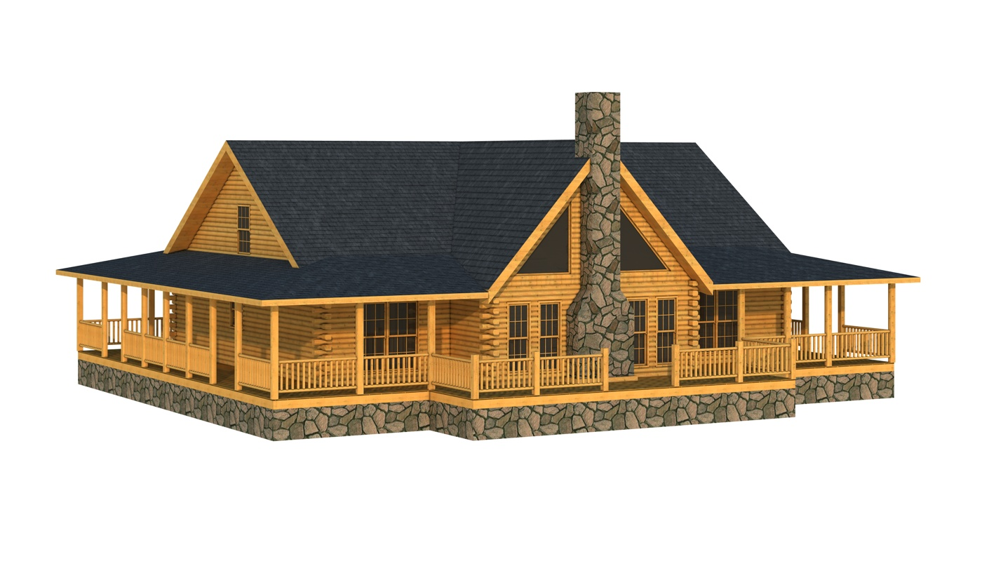 Abbeville plans information southland log homes for Log cabin home designs and floor plans