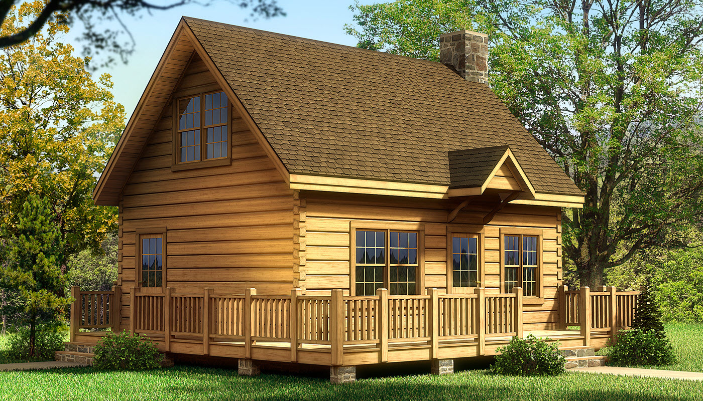 Alpine i log home plan southland log homes for Chalet house plans