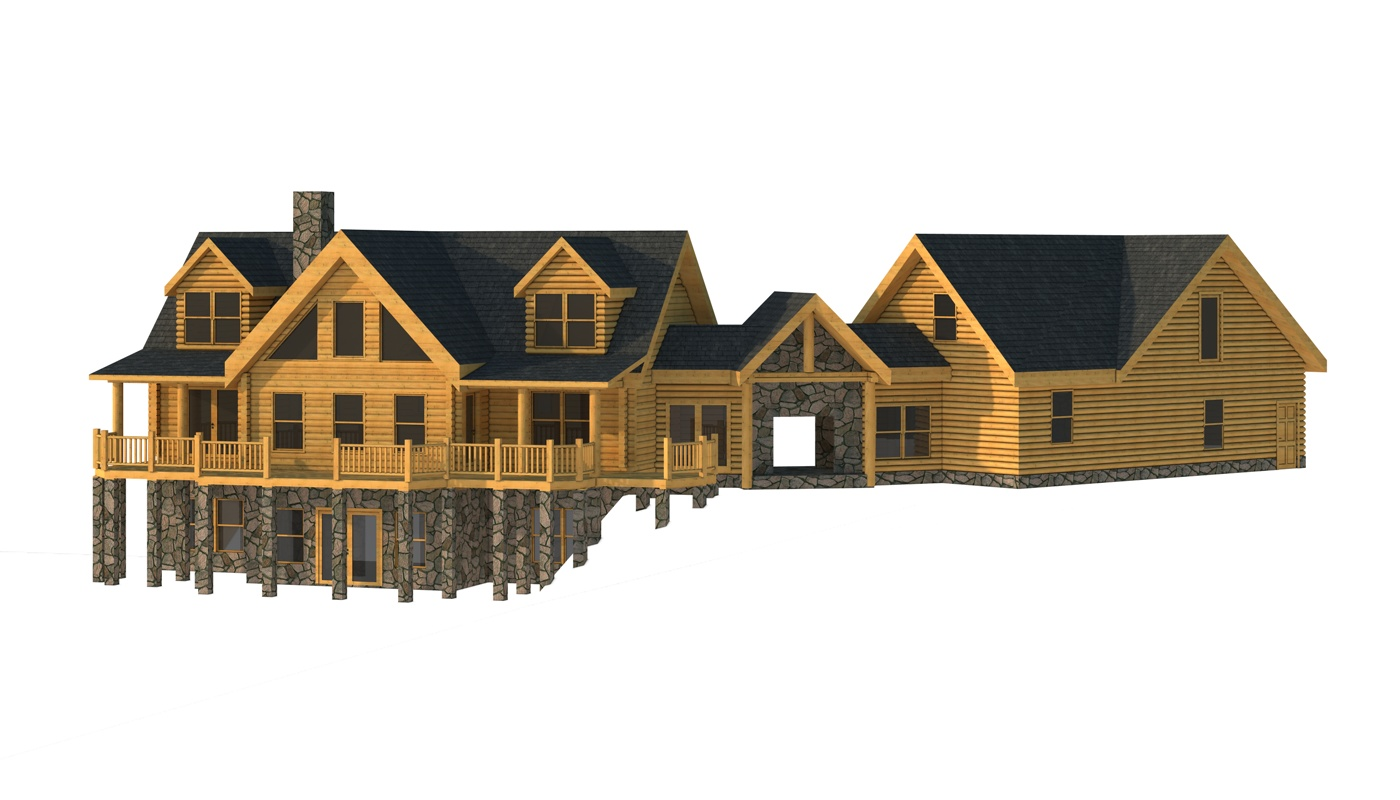 anson plans information southland log homes rear elevation anson rear elevation southland log homes