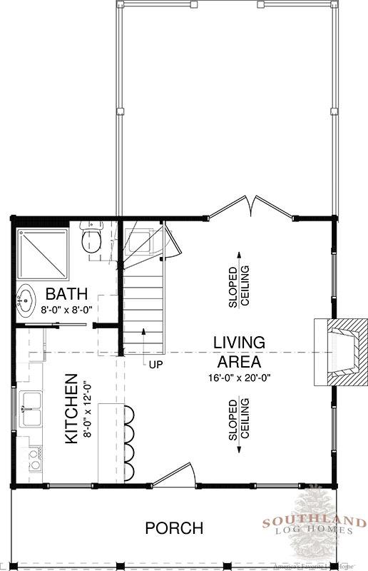 First Floor: Auburn First Floor   Southland Log Homes