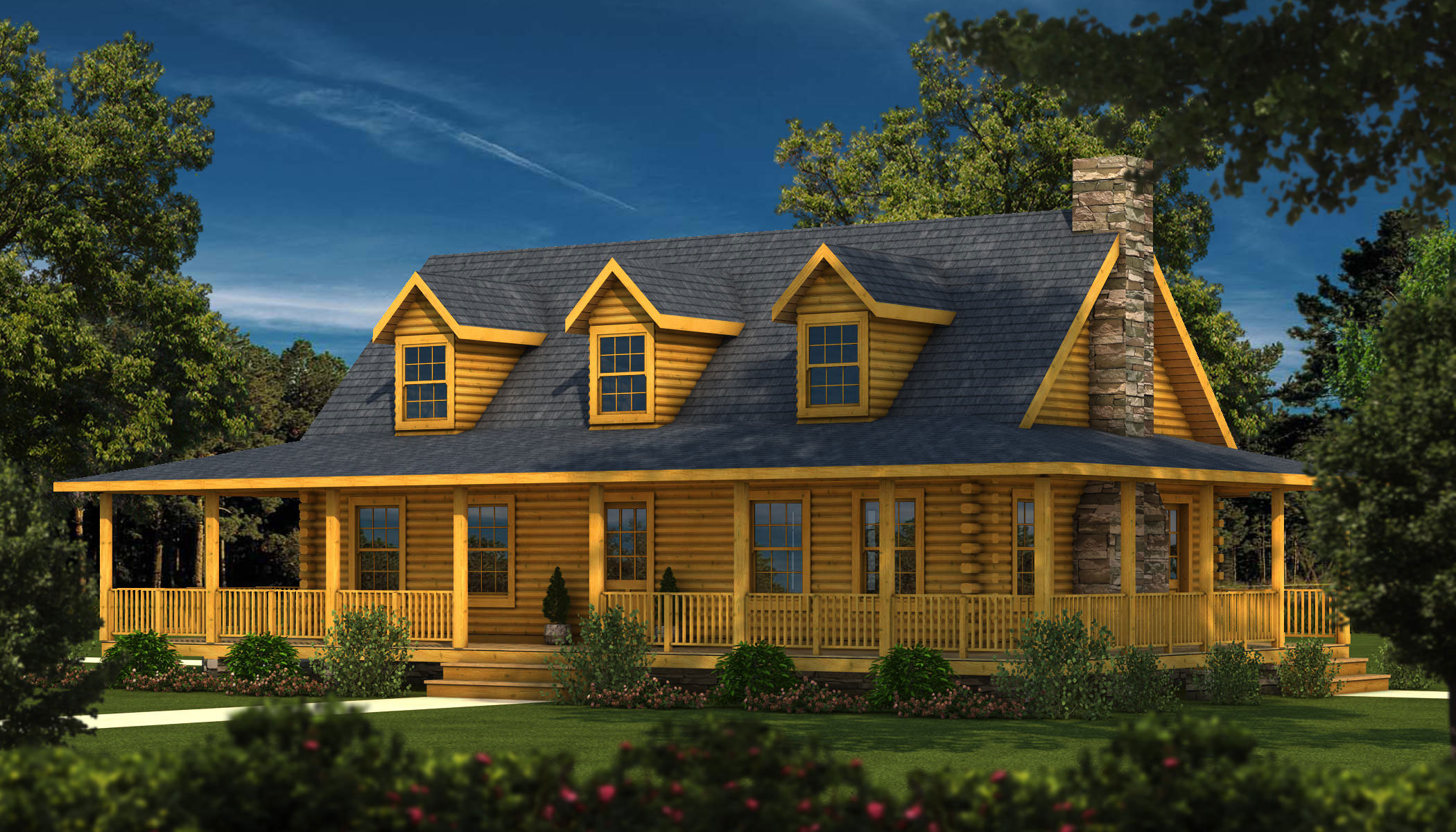 Baton rouge la log homes and log cabin kits southland for Baton rouge house plans