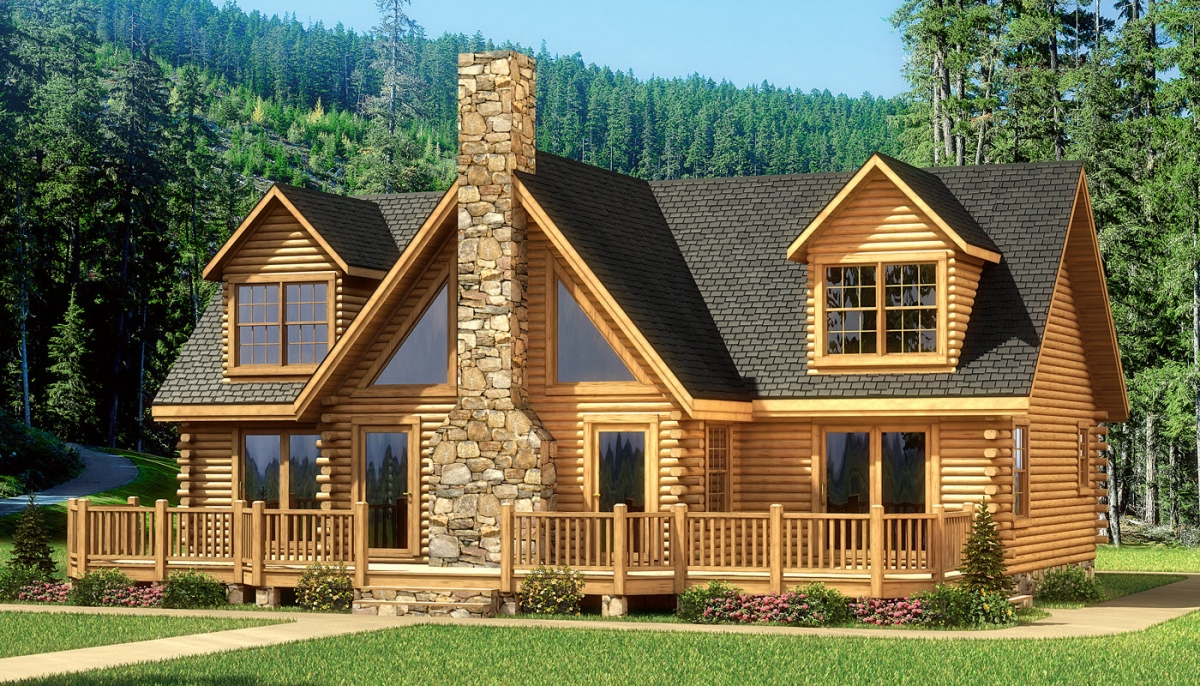 Log cabin model homes in texas