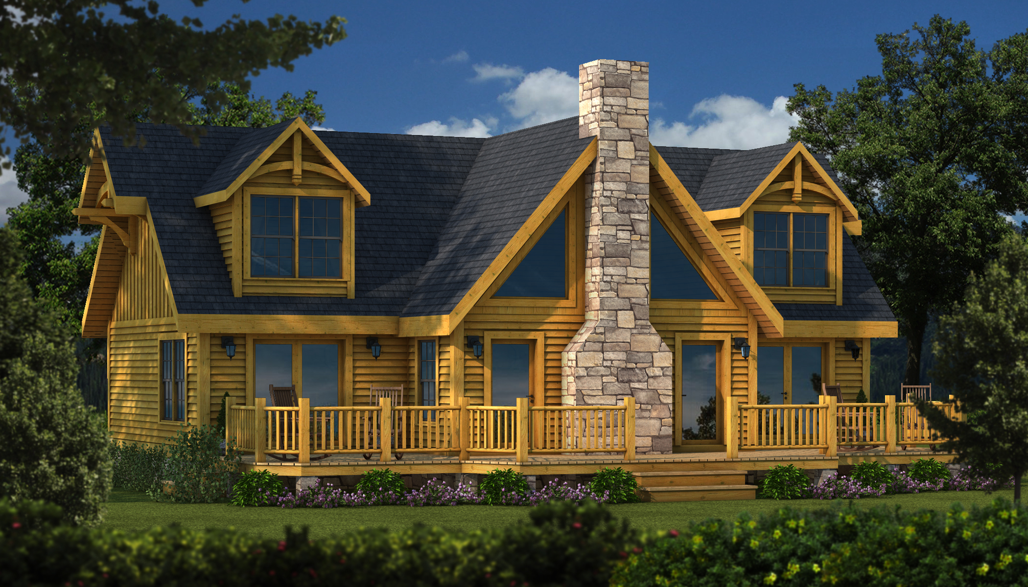 Grand Lake Tf Plans Information Southland Log Homes