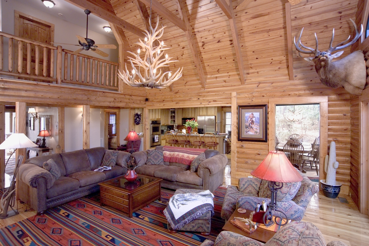 Interior Great Room - Southland Log Homes