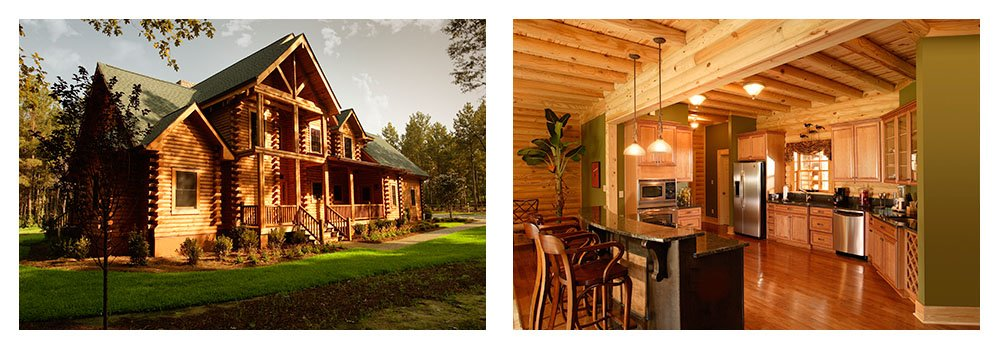 Log Homes & Log Cabin Kits - Interior Photos 2