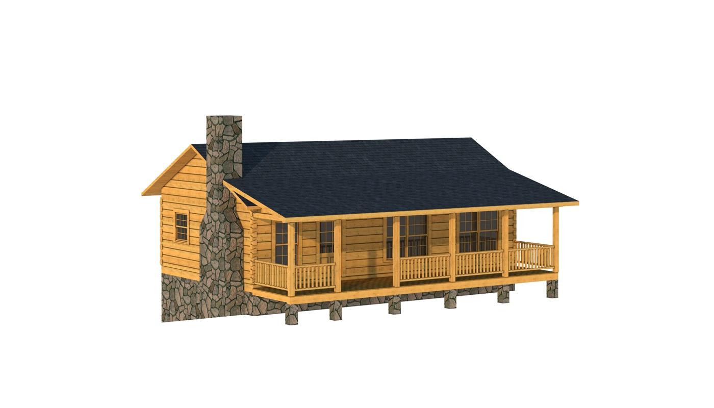 mcminn log cabin kit plans information southland log homes - Log Cabin Homes Designs