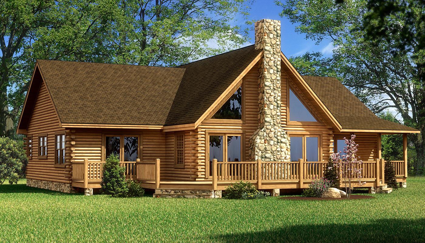 Red river plans information southland log homes for Riverfront home designs