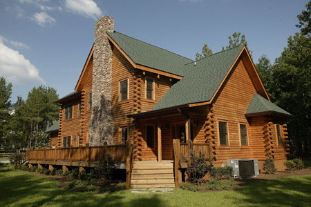 Southland Log Homes Exterior Rear