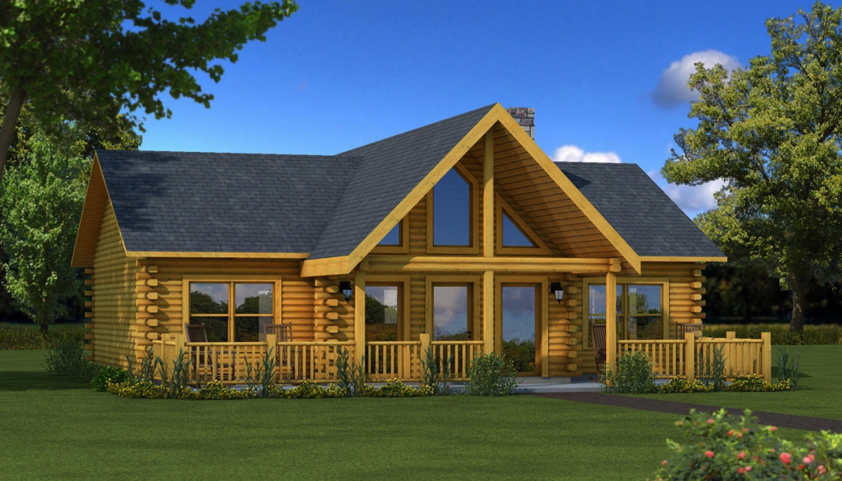 The Wateree IV from Southland Log Homes