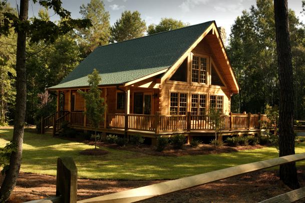 Log model homes
