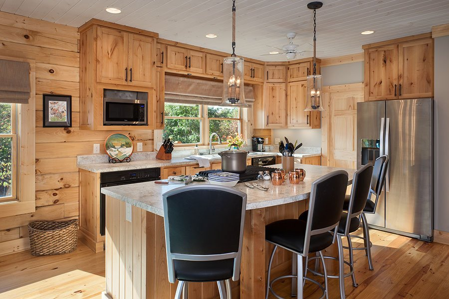 Red River 2 Log Home Plans Kitchen