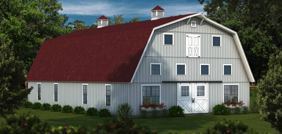 Timber Frame Wood Barn Kits