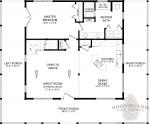 Beaufort First Floor - Southland Log Homes