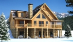 Brookestone Front Elevation - Southland Log Homes