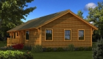 Bungalow Rear Elevation - Southland Log Homes