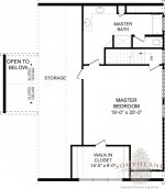 Chestnut Second Floor - Southland Log Homes