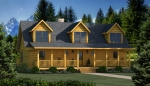 Grand Lake Rear Elevation - Southland Log Homes