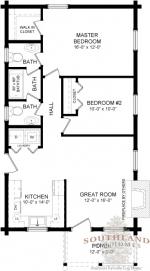 Lee II First Floor - Southland Log Homes