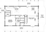 Regent First Floor - Southland Log Homes