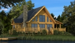 Rockbridge Front Elevation - Southland Log Homes