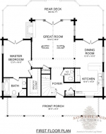 Super Greenwood II First Floor - Southland Log Homes