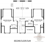 Super Greenwood II Second Floor - Southland Log Homes