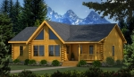 Wateree I Front Elevation - Southland Log Homes