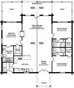 Wateree IV First Floor - Southland Log Homes
