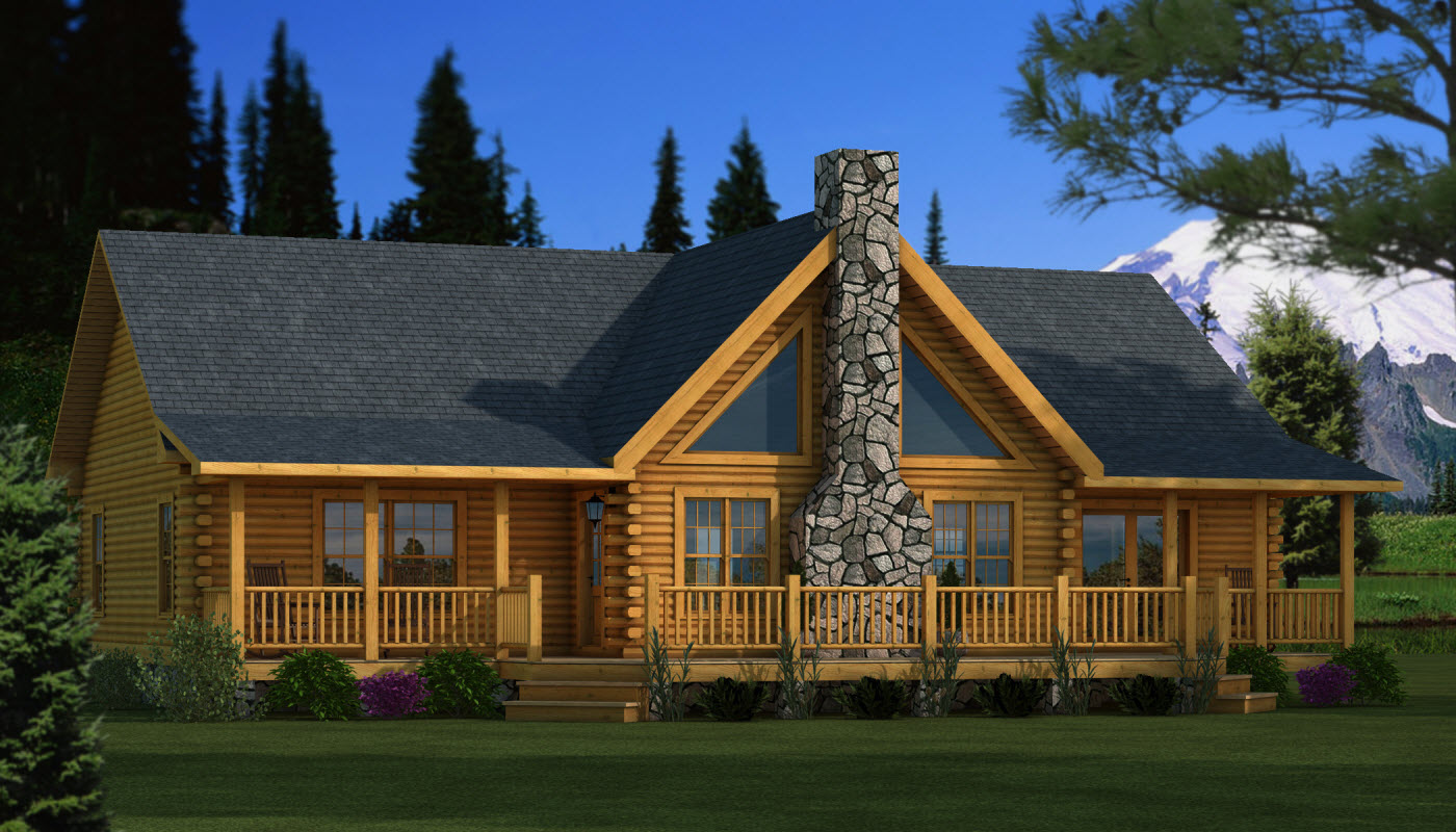 Adair plans information southland log homes for Cottages plans designs