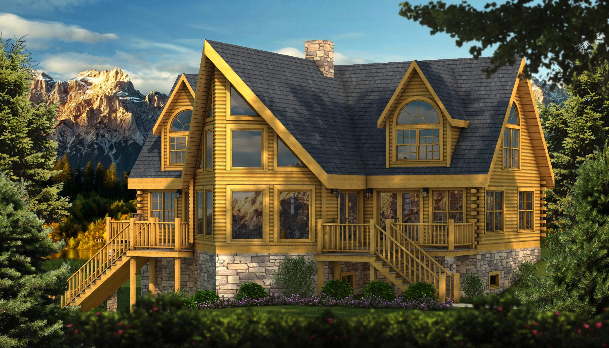 Adirondack plans information southland log homes for Adirondack home plans