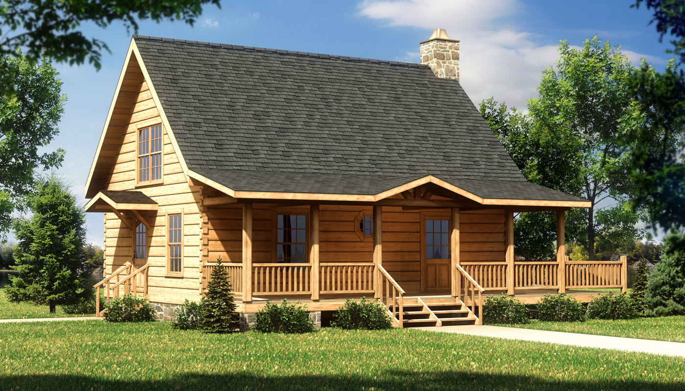 Alpine ii plans information southland log homes for Cabin addition floor plans
