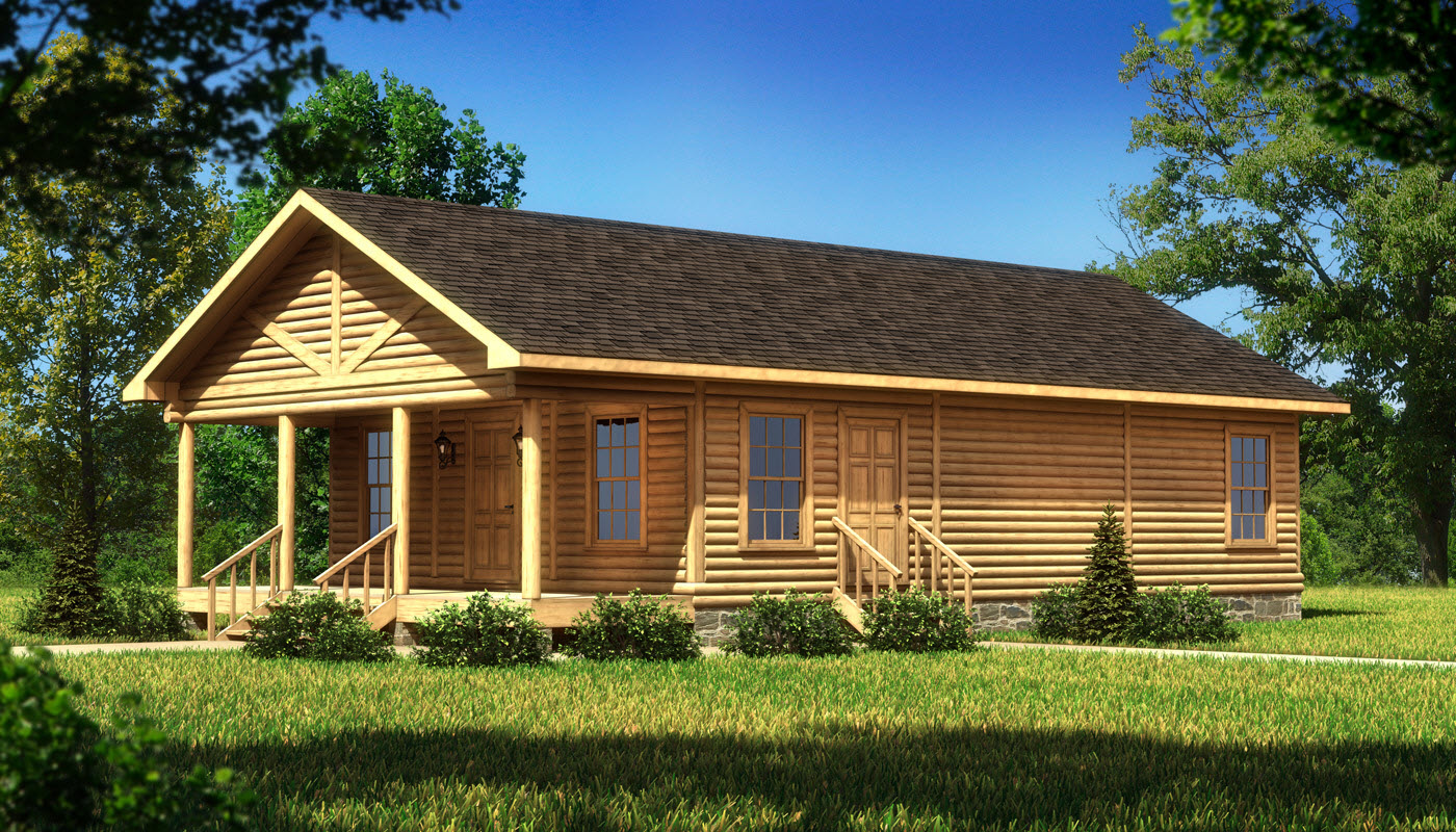 Ashford plans information southland log homes for Log house plans with photos