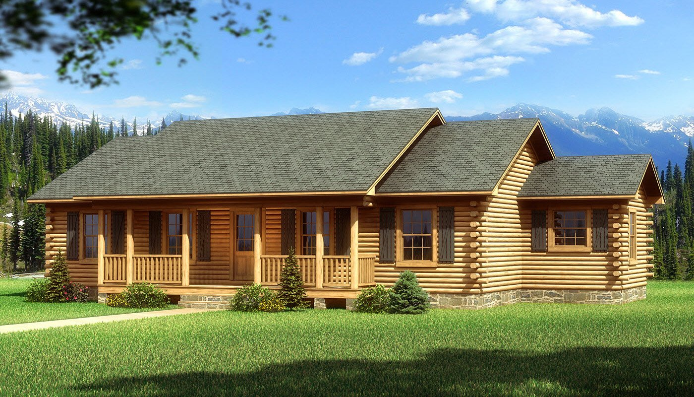 Bay minette plans information southland log homes for One story modular homes