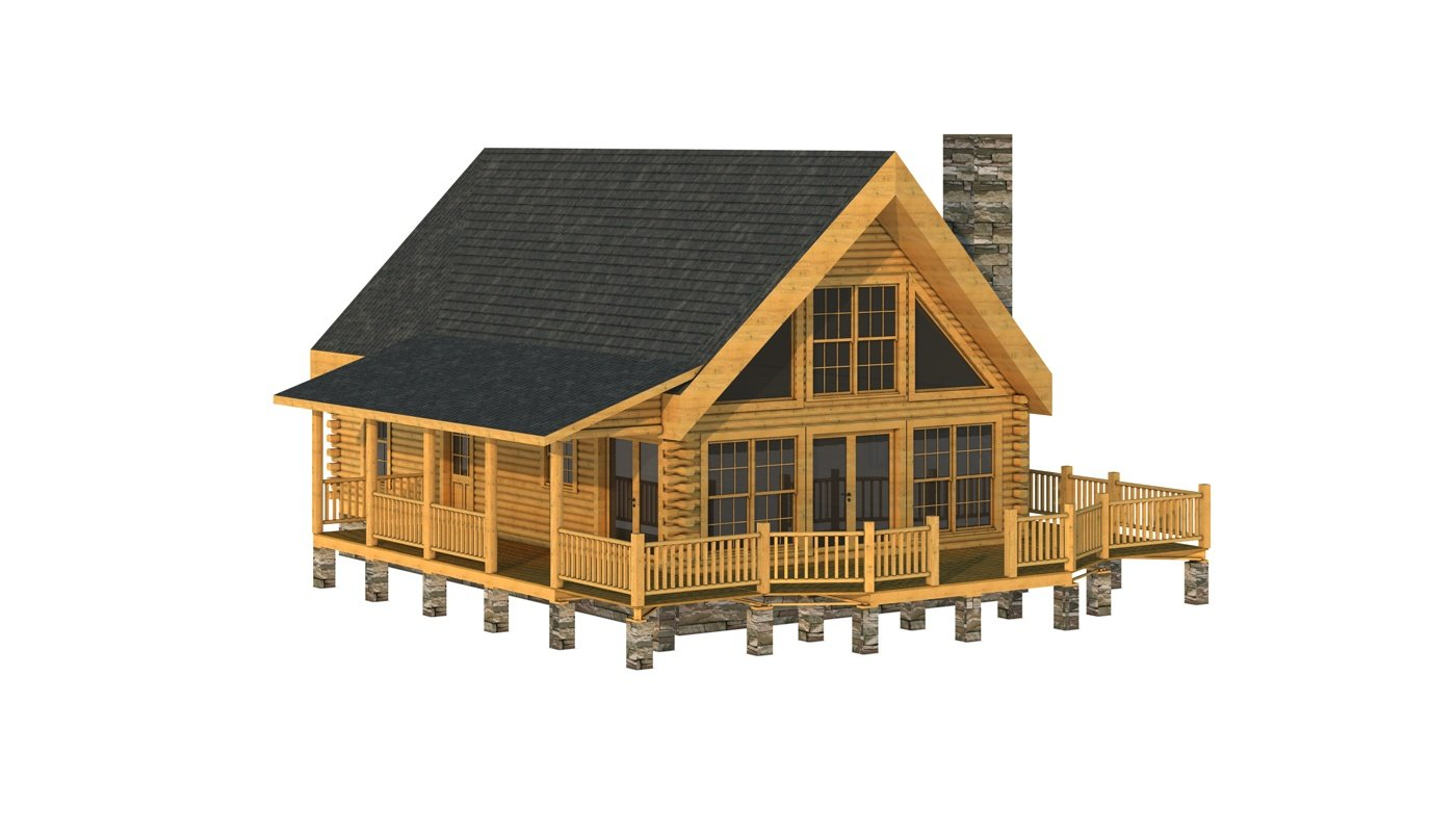 Buncombe plans information southland log homes for Log plan