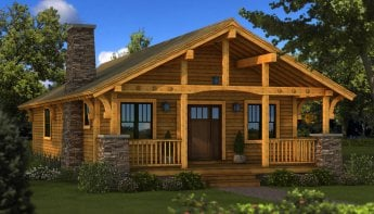 Log home plans log cabin plans southland log homes for Home plans for small homes