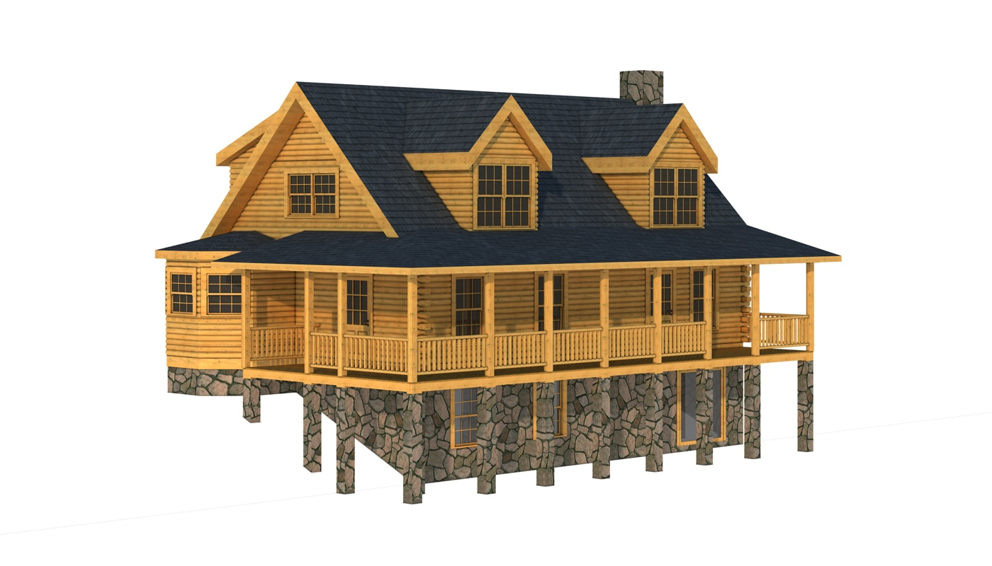 Carter I - Plans & Information | Southland Log Homes