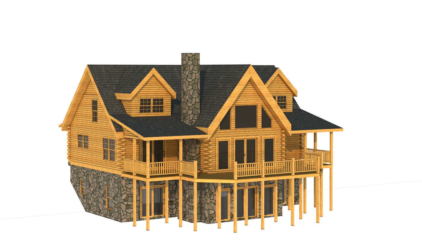 Chatham ii plans information southland log homes for Chatham house plans