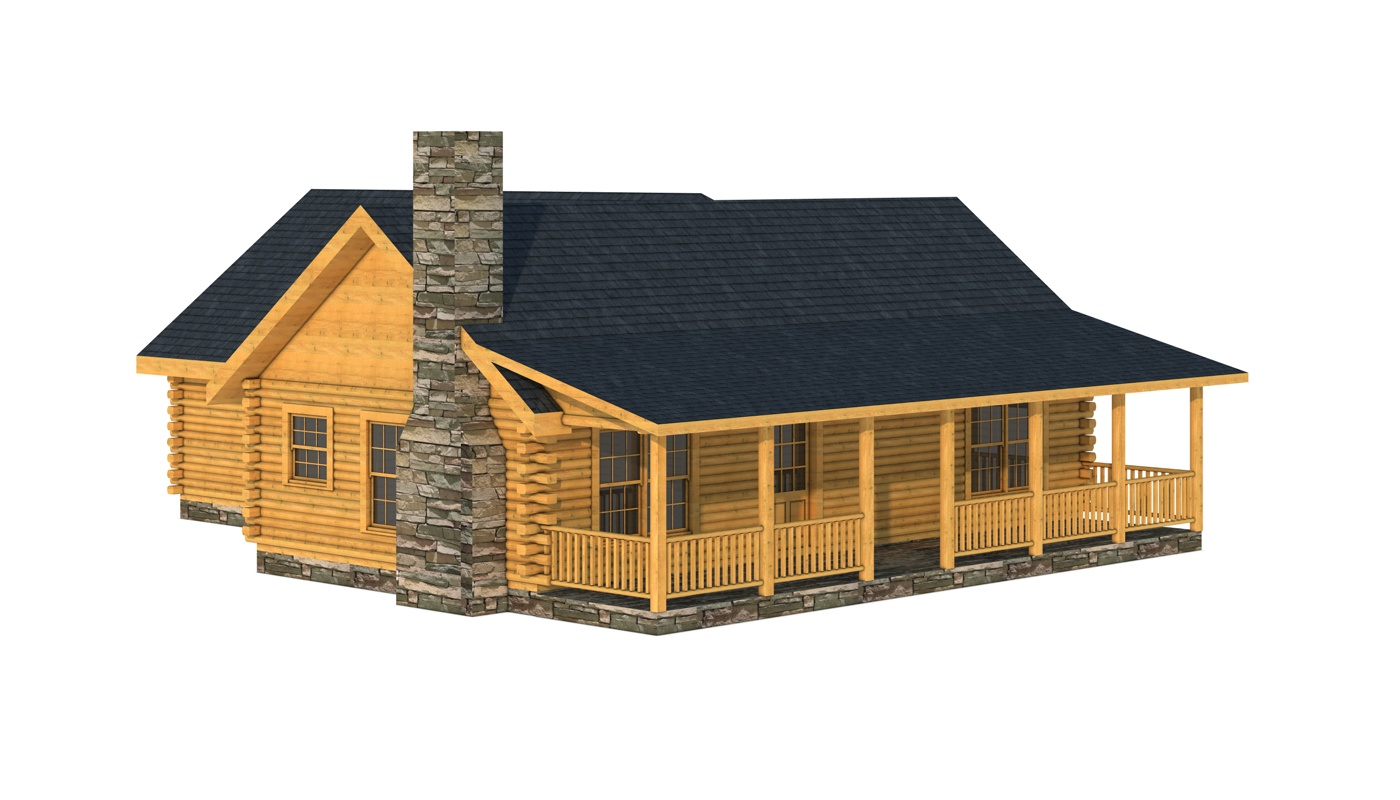 Choctaw plans information southland log homes for Free online log cabin floor plans