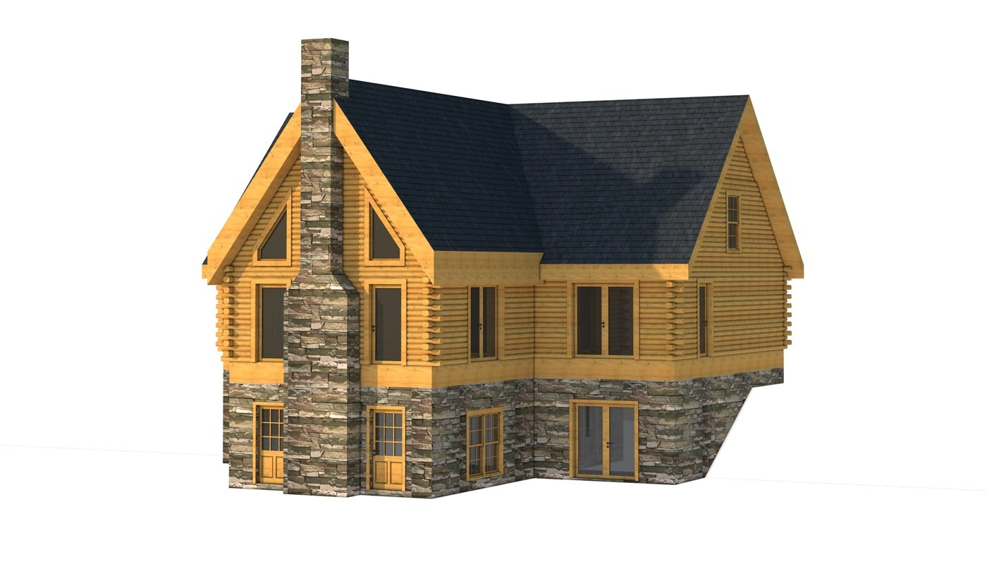 Clark ii plans information southland log homes for Design homes angela clark