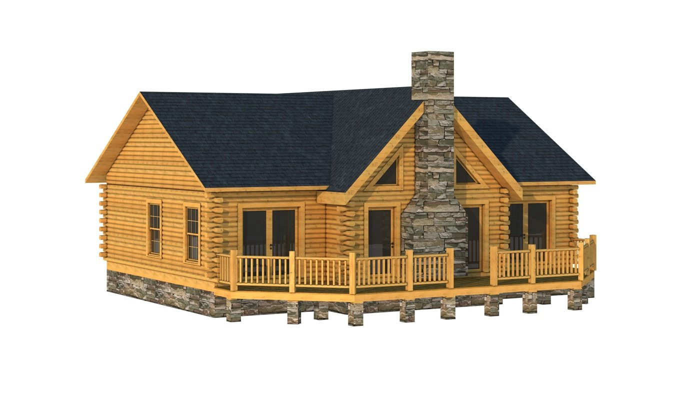 Cleveland plans information southland log homes for Log house plans with photos