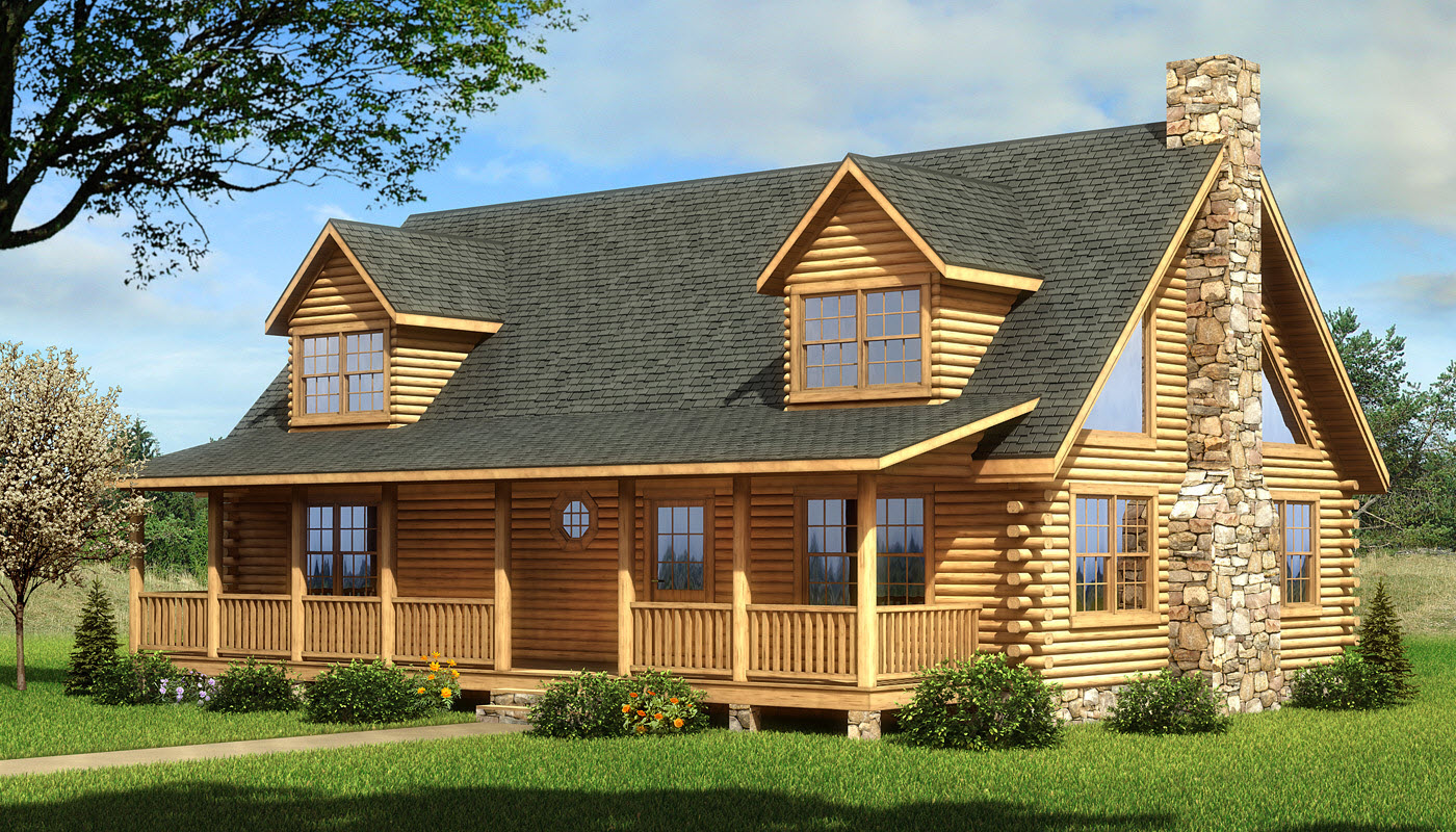 Coosa plans information southland log homes for Log home plan