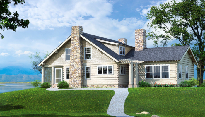 Craftsman farm plans information southland log homes for Craftsman log homes