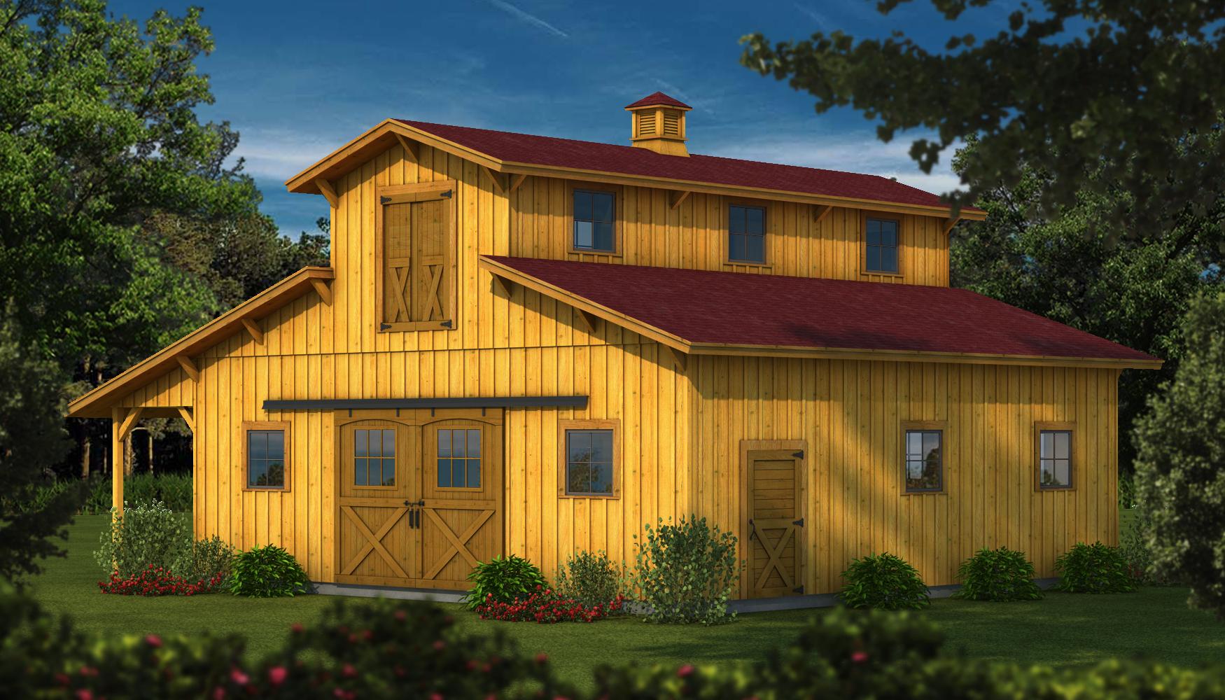Dakota plans information southland log homes for Barn homes kits for sale