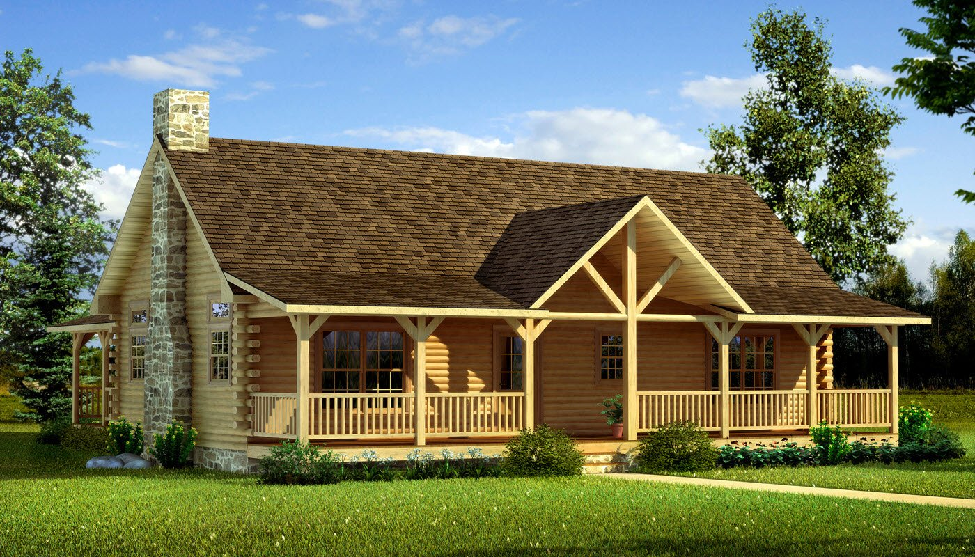 Danbury plans information southland log homes for Log cabins homes