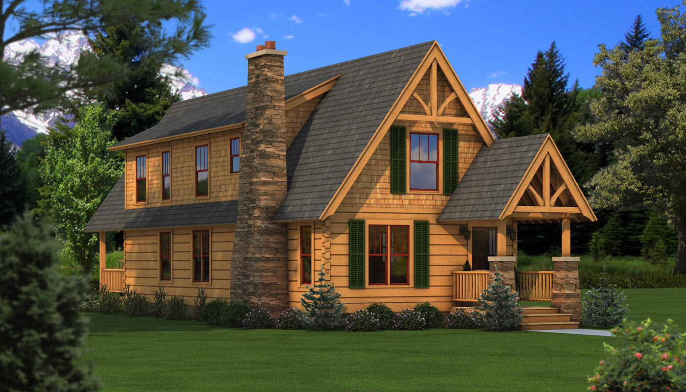 Haven plans information southland log homes for Two bedroom log homes