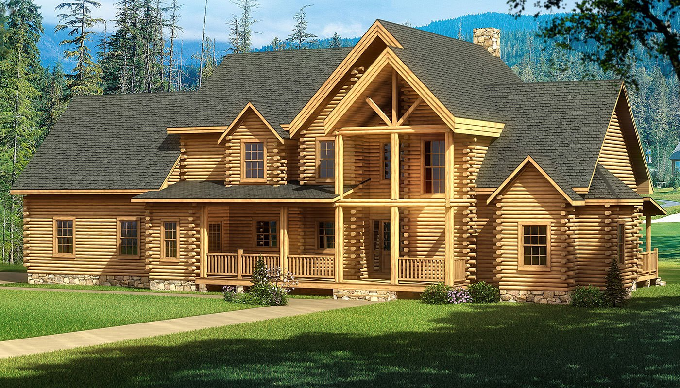 Highland_Front_Elevation Southland Log Homes House Plans on phoenix luxury homes, southland homes kitchens, southland custom homes, lake homes, southland homes layout, stone river rock homes, clearance on modular homes, kansas city homes,