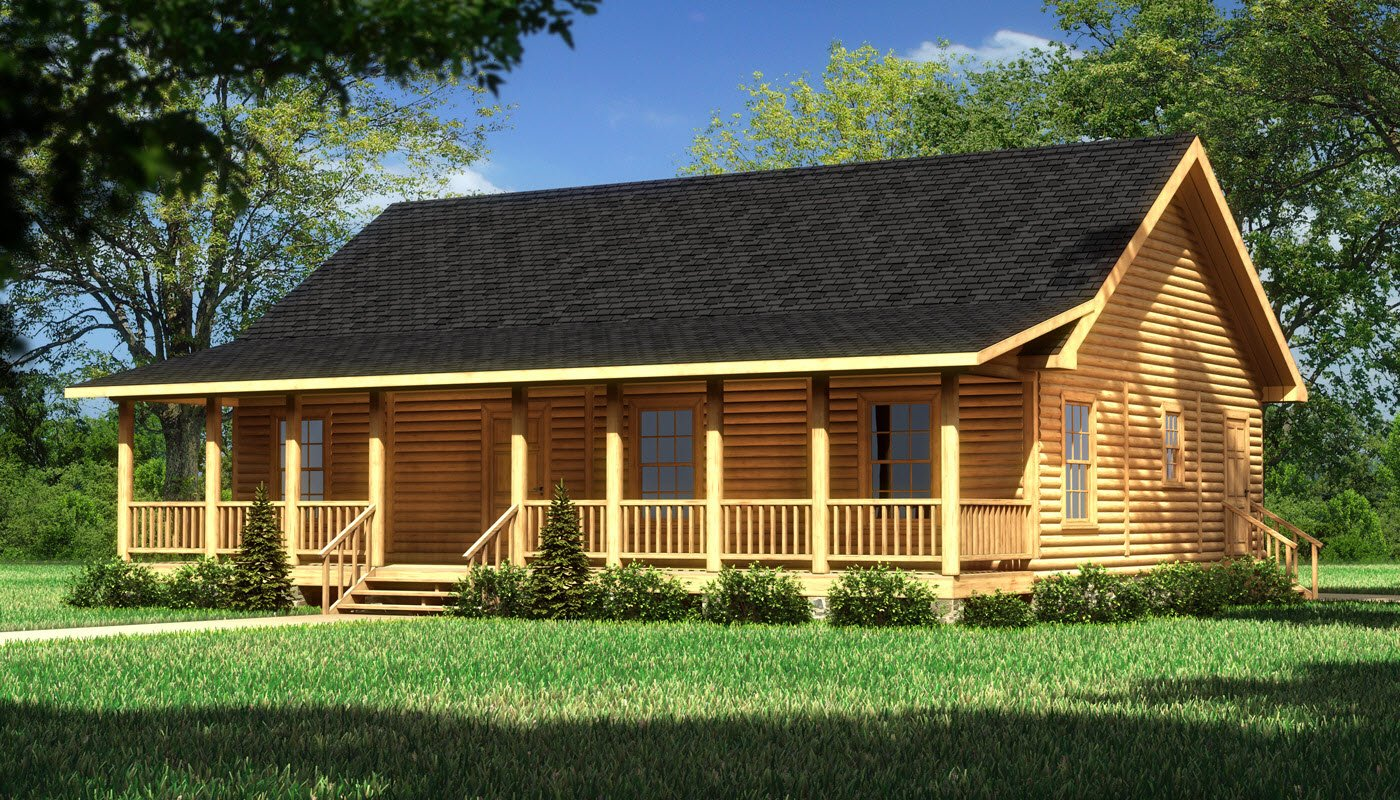 Lakeshore plans information southland log homes for Square log cabin plans