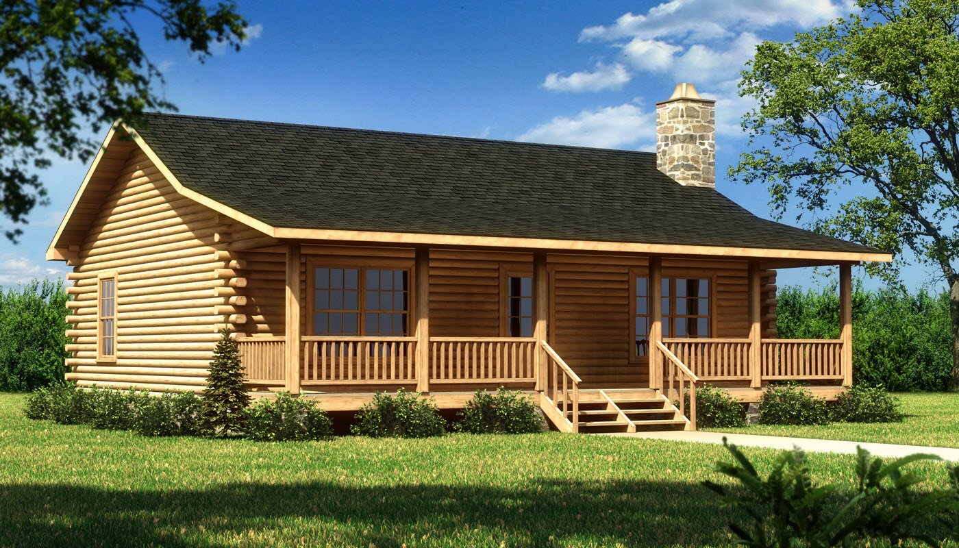 Lee iii plans information southland log homes for Log cabins homes