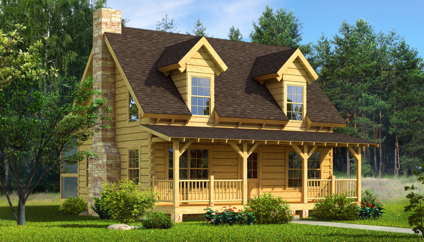 Mountain laurel plans information southland log homes for Log cabins homes