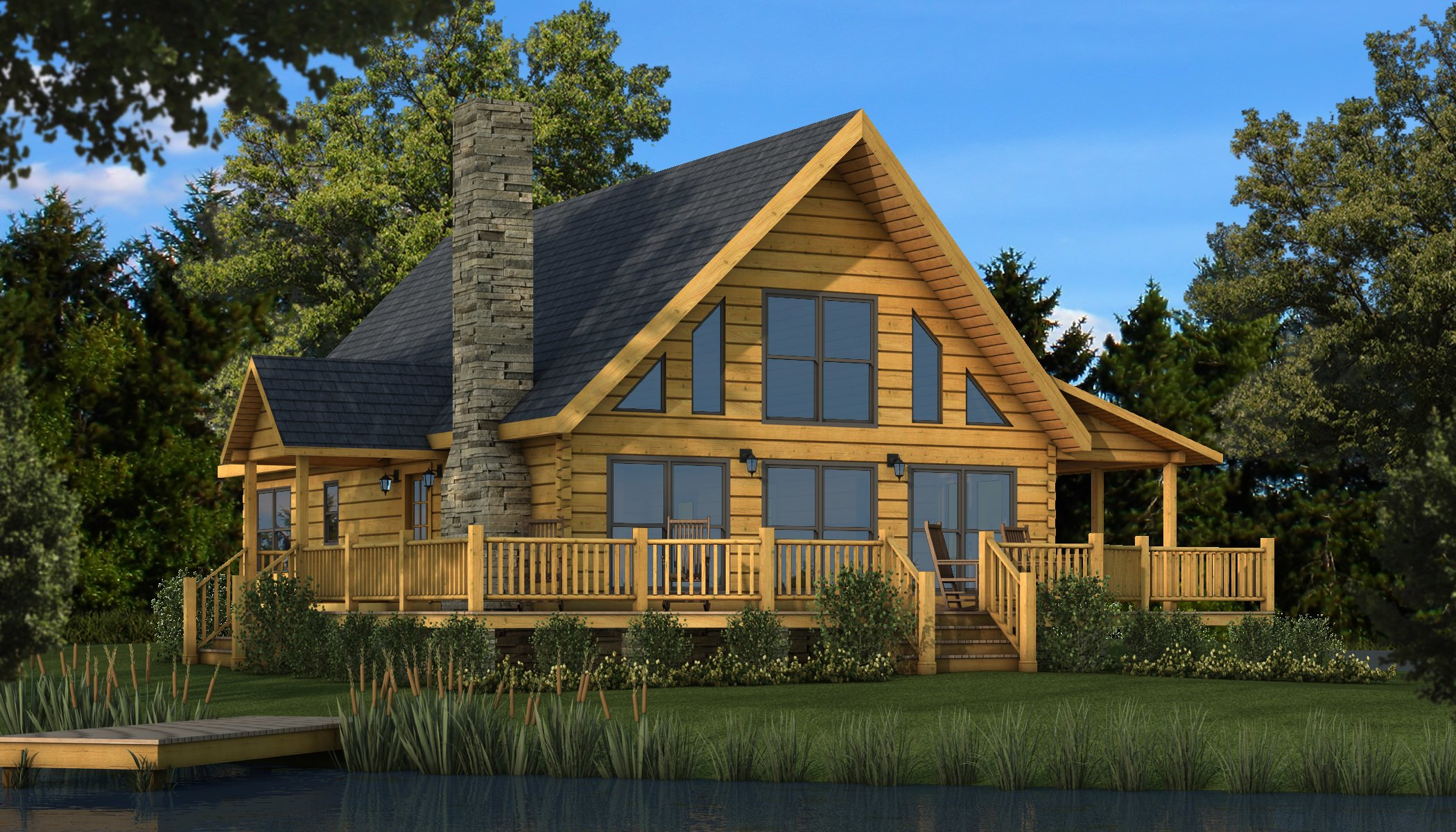 Rockbridge plans information southland log homes for Log cabin layouts